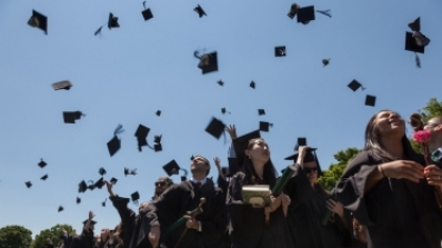 graduation mortar toss