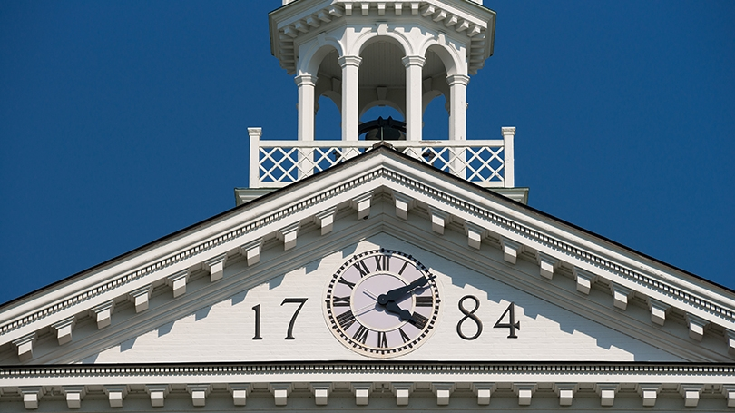 Dartmouth Hall clock tower